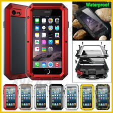 For iPhone Samsung Metal Case Cover +Gorilla Glass Aluminum Silicone Shockproof