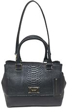 NWT Tignanello Gracious Style Triple Entry Satchel EMB Black 68632033 MSRP: $170