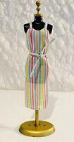 Vintage BARBIE BEST BUY #1354 Pink Blue Yellow Summer STRIPED Stripe DRESS