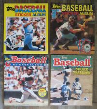 1981 1982 1983 1984 Topps Baseball Sticker Yearbook lot