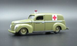 Racing Champions 1949 Ford Sedan Army Ambulance Panel Van Great for Diorama