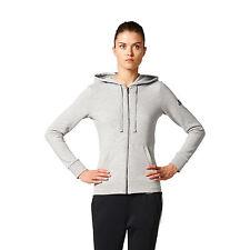 Adidas Solid FZ Felpa Donna Zip grigia XL Grigio