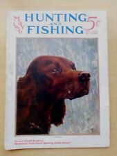 Hunting and Fishing magazine 1930 USA book vintage catalog old /pc