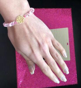 Bracelet 18kt Gold/Beads/Designer New/ Size Adjustable Strap Yellow Gold