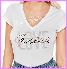 GUESS Jeans Love Print  Logo Tank T-shirt Tee T shirt Top Blouse NWT XS,S,M,L,XL