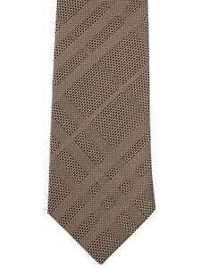Authentic New BURBERRY Men's MANSTON Archive Beige CHECK Slim Skinny Silk Tie