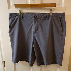 SwissTech Swiss Tech Men 38 Shorts Cotton Stretch Flat Front Blue Casual Golf