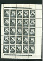 Germany occupation of Serbia 1942 Monasteries ☀ 16 Din - Mi 81 MNH ☀ Block of 25
