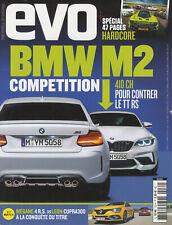 EVO n°132 05/2018 BMW M2 COMPETITION MEGANE RS LEON CUPRA 300 AUDI R8 BMW M4 CS