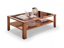 NESTOR PLUS Couchtisch Wohnzimmertisch Kernbuche massiv Glas Tisch f. Wohnzimmer