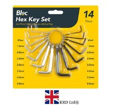 14 Piece HEX ALLEN KEY SET WITH RING Metric Expert Allan Alen Alan 1.5- 5.5mm UK