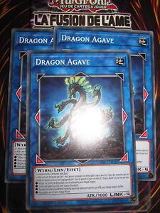 YU-GI-OH! COM PLAYSET (LOT DE 3) DRAGON AGAVE SOFU-FR048 EDITION 1