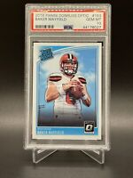2018 Donruss Optic #153 Baker Mayfield Cleveland Browns Rated Rookie Card PSA 10