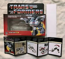 TRANSFORMERS G1 AUTOBOT JAZZ BOX, MANUAL, CARDBOARD BACK, INSERT, & BUBBLE NEW