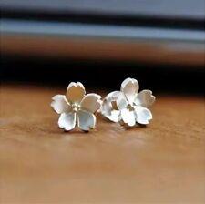 925 Sterling Silber Ohrstecker Ohrringe Blume Blüte Filigran Sterlingsilber Boho
