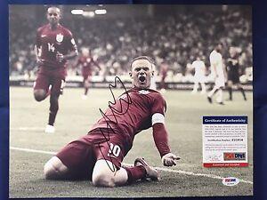 WAYNE ROONEY Signed Autographed 11x14 Photo England Manchester United PSA/DNA