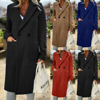 ZANZEA Damen Trenchcoat Wollemantel Elegant Anzugjacke Lang Jacke Mantel Outwear