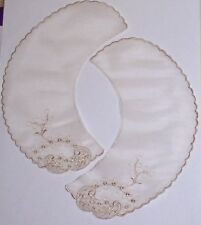 "Vintage Blush Embroidered Collars 8 Sets Pairs 3"" x 8-1/2"" CLOSEOUT Lot LA413V"