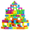 100 Pieces Early Education Building Blocks Kids Wooden Toys Construction Bricks