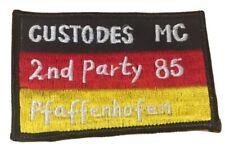 """MC Custodes Pfaffenhofen """"2nd Party"""" 1985 extrem selten Patch Biker Aufnäher Rar"""
