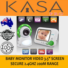 """New Wireless Baby Monitor Video 3.5"""" Screen Secure 2.4GHz 200m Range"""