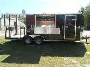 NEW 7x20 7 x 20 Custom Enclosed Concession Food Vending BBQ Trailer w/ Porch