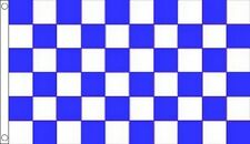 CHEQUERED BLUE AND WHITE FLAG FOOTBALL FLAG EVERTON FA CUP SEMI  5FT X 3FT