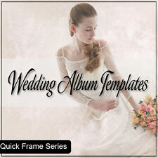 quick frame wedding album templates photoshop cs ect    2 DVD set
