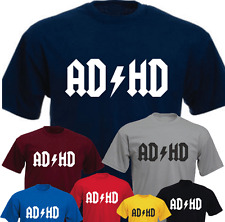 AD/HD funny logo parody ADHD New Funny T-shirt Present Gift
