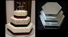 "Hexagon Cake Baking Tins -  3 Tier - 3"" Deep"