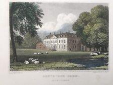 1831 Antique Print; Beechwood Park, near Markyate, Hertfordshire after Neale