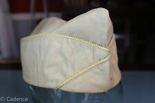 US WW2 Army Khaki Overseas Garrison Hat Cap Finance Dept 6 7/8 99
