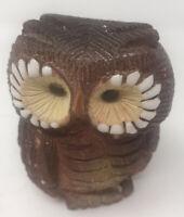 "Artesania Rinconada Clay ""Owl"" Figurine 1970's Hand Made In Uruguay"