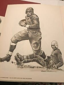 "Vintage Red Grange 8.5""x11"" Print By Robert Riger From The Best Plays Old Pros"