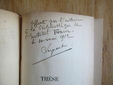 Étude sur nationalisation chemins de fer suisses Thèse docto RAYNAUD 1901 Signé