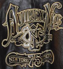 Men's-Avirex-Baseball-Varsity-Letterman-Leather-Lambskin-Jacket-Coat-3XL-XXXL