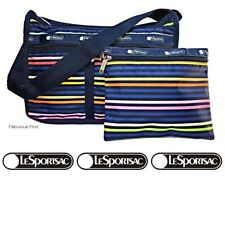 LeSportsac Baby LeStripe Deluxe Everyday Crossbody Bag + Free Ship Colorful D663