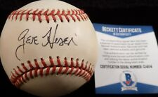 BECKETT-BAS CHICAGO CUBS GENE HISER AUTOGRAPHED-SIGNED BOBBY BROWN BASEBALL 114