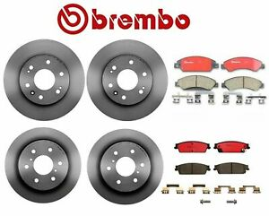 Brembo Front and Rear Disc Brake Rotors Ceramic Pads Kit for Cadillac Chevy GMC