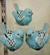 Ceramic Glazed Bird Ornament Tea Light Holder  Home Decor