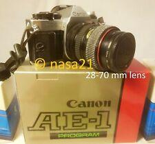 camera body, lenses, more - Canon AE-1 Program 35mm film – 1 owner