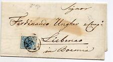 ANTICHI STATI 1858 LOMBARDO VENETO 45 CENT. CREMONA 28/5 N°RIF A/23