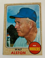 1968 Walter Walt Alston # 472 Los Angeles Dodgers LA Topps Baseball Card HOF