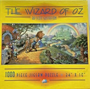 The Wizard of Oz Scott Gustafson Sunsout Puzzle 1000 Pc Complete Jigsaw