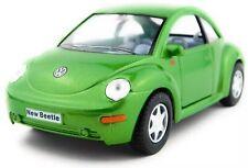 "5"" Kinsmart VW Volkswagen New Beetle Diecast Model Toy Pullback Car 1:32 Green"