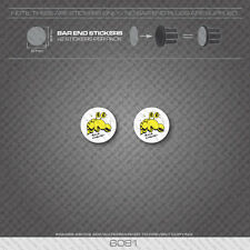 6081 - Rock Lobster Bicycle Handlebar Bar End Plug Stickers - Decals