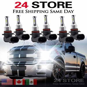 9005 9006 9145 LED Headlight Bulbs Fit For Chevy 03-07 Silverado 02-05 Avalanche