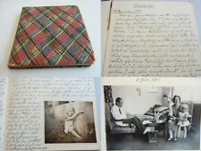 Handschrift Tagebuch LUDWIGSHAFEN 1930-32 / Mutter für Kind HILDE (*1928), FOTOS