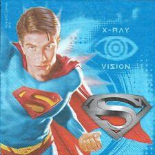 2 Serviettes en papier Superman Decoupage Paper Napkins