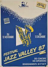 Affiche FESTIVAL JAZZ VALLEY 1987 Val d'Oise